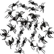 27 schwarze Spinnen 8cm eklige Deko Hallween Spinne Horror Partydeko