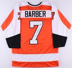 "Bill Barber Signed Philadelphia Flyers Jersey Inscribed ""HOF 90"" (JSA COA)"