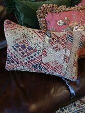 Antique Collector Carpet Pillow,Handmade Rug Cushion Cover,,Carpet Pillow