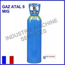 BOUTEILLE DE GAZ ATAL 5 A /  2.3 m3 /11 LITRES AIR LIQUIDE / SOUDURE MIG