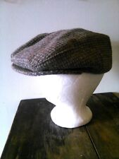 Vtg 100% British Wool Brooks Woolen Co. Inc. Cabbie Snap Hat Newsboy Cap