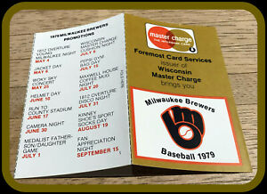 1979 MILWAUKEE BREWER FOREMOST CARD SERVICES MC BASEBALL POCKET SCHEDULE