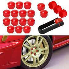 20pcs Wheel Hub Screw 321601173A Red Lug Bolt Nut Caps Plastic For Audi