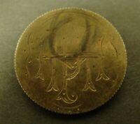 LOVE TOKEN BARBER QUARTER 1899 PIN SILVER   25c COIN