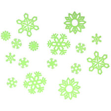 Glow In The Dark Adhesive Decorations For Kids Bedroom - Winter Xmas Snowflakes