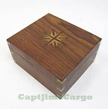 "Large Brass Kelvin & Hughes Sextant 8"" w/ Wooden Case Antiqued Nautical Decor"