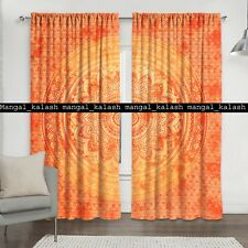 Ombre mandala indian cotton tapestry drapes hanging window ethnic door curtain