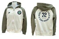 NEW Vintage NIKE Sportswear Track & Field Hoodie Jacket Military Green & Ecru M