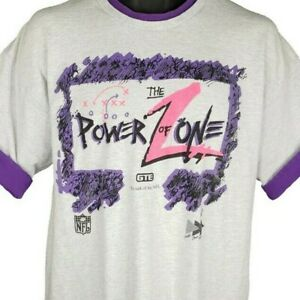 NFL Power Of Zone T Shirt Vintage 90s GTE Communications Made In USA Size XL