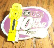 VIFA - Valley International Foosball Association - 10th YEAR MEMBER PIN BADGE !