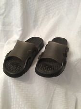 a35670f82eeb New Land s End Mens boys Slide Sandals Color Black gray Size 7