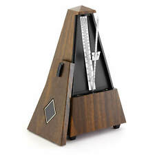 More details for theodore met21-wd mechanical metronome – classic wood effect pyramid design