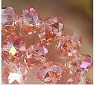 70pcs, 6x8mm, rouge rose Perles de Cristal