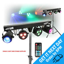 More details for max partybar par can jellymoon dmx dj led bar light effects with stand