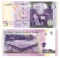 TONGA 5 Pa'anga ND (2008) P-39 Banknote Paper Money UNC