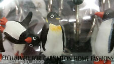Penguin Shower Curtain Hooks Cute Polar Ice - set of 12 Carnation Home Fashions