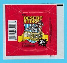BUBBLE  GUM  WRAPPER  -  TOPPS  U.S.A. -  DESERT  STORM  -  1991