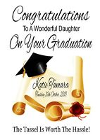 Personalised GRADUATION Congratulations Card Son Daughter (Blank Inside)
