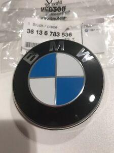 BMW HUB CAP CENTRE BADGE EMBLEM SET OF 4 E36 E46 F12 F13 E65 F01 36136783536