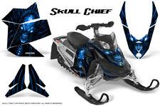 SKI-DOO REV XP SNOWMOBILE SLED GRAPHICS KIT WRAP CREATORX DECALS SKULL CHIEF BL