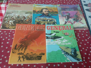 The Avalon Hill General Magazine Lot of 5 Issues Vol.17 No.1,Vol18 1,4, 5, and 6