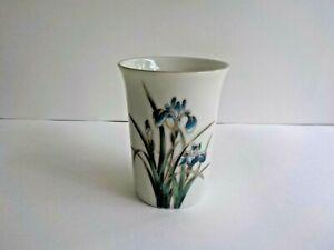 Shibata Japan Bathroom Tumbler Holder Cup Flower Blue Iris Replacement