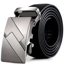 Men Leather Automatic Buckle Belts Fashion Waist Strap Military Belt Waistband