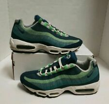 NIKE AIR MAX 95 PRM MEN'S SZ 9 PRE-OWNED SPRUCE/LIME/GRAY/WHITE 644793-300
