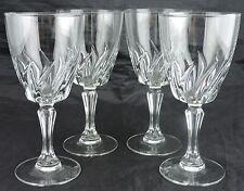 VINTAGE WINE/WATER GLASS SET 4 FRANCE STEMWARE GLASSWARE BARWARE