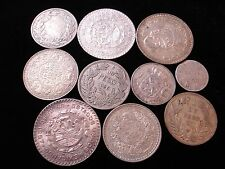 World Silver Coins Include  Chile 1927 UN Peso 1889 1/4 India Rupee Scarce #NL6