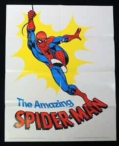 D332. The AMAZING SPIDER-MAN Hudson Pharmaceutical's Vitamins Poster (1975)