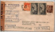 GP GOLDPATH: CARIBBEAN COUNTRY COVER 1943 REGISTERED LETTER AIR MAIL _CV570_P23