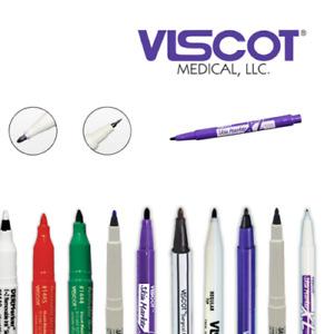 Viscot Surgical Skin Marker Pen - Tattoo & Piercing Prep - 9 colour nib options