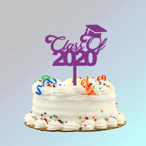 Plastic Class of 2021 Cake Topper (6 inches wide, 7.5 inches tall)