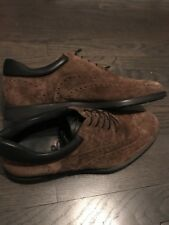 Authentic New BURBERRY Men's Brown PAKEFIELD Suede Brogues Shoes 42 9.5 US $595
