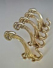 Set of 5 large Edwardian brass ram head coathook wall door hanger coat hook AL77