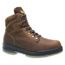 "Wolverine Men's Work Boots DuraShocks Leather 6"" Brown EH Steel Soft Toe 200G"