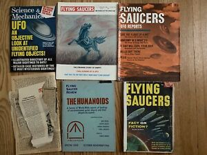 UFO Flying Saucers Lot of 5 Magazines