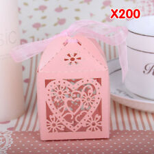 WITUSE Floral Laser Cut Paper Party Sweet Wedding Favor Candy Gift Boxes+ Ribbon