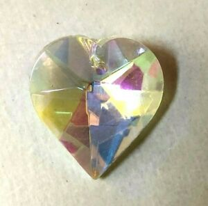 NEW: 20mm Clear AB Crystal Glass HEART PRISM ORNAMENT SUNCATCHER JEWELRY