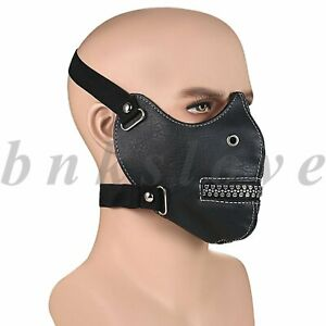 Punk Zipper Skull Anti Dust Windproof Leather Half Face Cover Shield Halloween