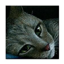 Large Ceramic Tile 6x6 inches Made in Usa Cat 420 Art painting L.Dumas