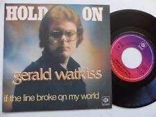 Gerald watkiss hold on 107 45 France pressing py 158 rrr