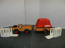 Vintage Fisher Price Safari Play Set With Jeep, Trailer, Tent & Cages