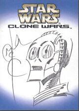 STAR WARS CLONE WARS SKETCH CARD BY MCREA  1:76