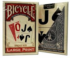 Bicycle® Large Print Bridge Playing Cards Deck Game Red Or Blue Colors Vary