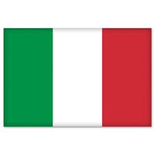 "Italy Italia Italian Flag bumper sticker decal 5"" x 4"""