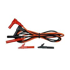 Test Leads Silicone [10 ft] w/ Detachable Alligator Clip Insulated Small (#991)