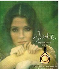 """Publicité Advertising 1976 Le parfum """"Jontue"""" de Revlon"""