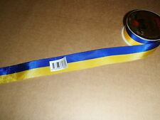 Ukraine or Swedish Colors - Blue & Yellow Ribbon #7186 10 meter roll